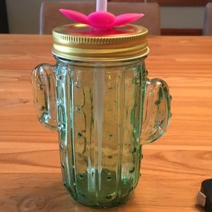 Glass cactus mug-fun for kids!